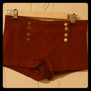 Red/Rusty Forever 21 shorts